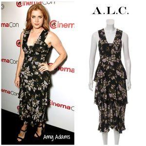 """A.L.C """"Hayley"""" tiered floral midi dress 2"""